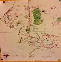 Map of middle earth by Petitmonstremagique