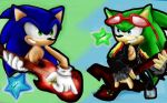 let's rock sonic and scourge by 4sonicfan