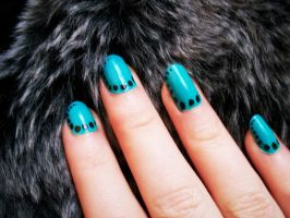 Turquoise with dots by Jennybicky