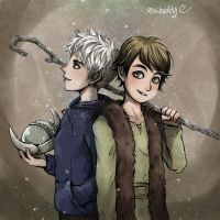 Jack Frost and Hiccup by minibuddy