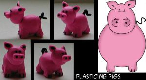 plasticine pigs by asiaq