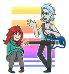 Young Rick n Bailey/ Commission by zullyvantas