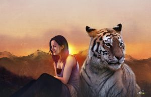 The Girl and the Tiger by UVER