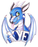 Kye the Dragon Badge by Tigsie