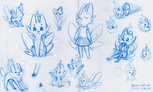 Frosty Feline Sketch Dump by Lunar-Wind