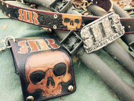 Ruthless Riderz buckle, wallet and belt 2 by RomeTheArtist