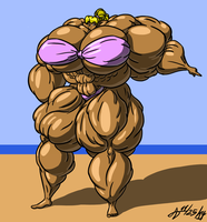 Extreme Muscle Bikini by ArchangelDreadnought