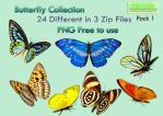 Butterfly Collection Stock Pack 1 by Roys-Art