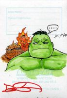 Hulk vs Thing ATC Back by DKuang