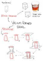 Concept Mockups for a Vacuum formed stool design 2 by Smyf