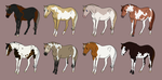 Adoptable Set 13 by angry-horse-for-life