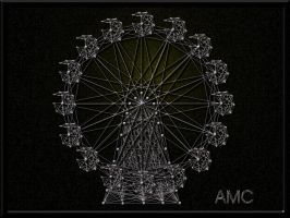 Ferris Wheel String Art by Tony5870