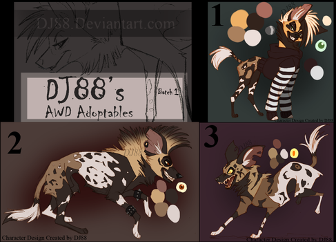 AWDs Adoptables batch 1 OPEN by DJ88