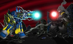 Megas XLR vs Big O by atomskmaster6