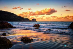 Peach Cloud Beach by Questavia