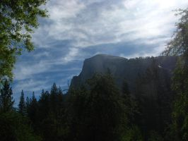 Foggy Half Dome by TheFastFiduciary