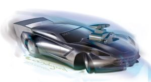 2014 Corvette Drag racer by candyrod