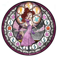 Meg (Megara) - Kingdom Hearts Stain Glass by reginaac57