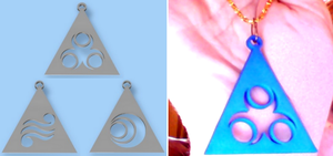 LOZ Din, Nayru, Farore Triforce Pendants by Enlightenup23