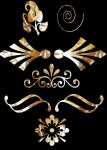 Gold Cutouts by Sammykaye1sStamps