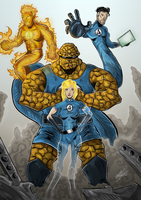 The Fantastic Four F4 Colored by BouncieD