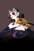 girl with cas mask by YetiPoisson