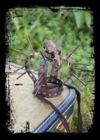 Spiky mini crown with skull by apatico