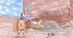 Balto's sleeping with a light by hecatehell