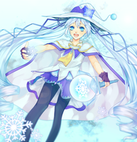Snow Miku by hoharibo
