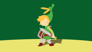 [Updated] Minimal Minish Cap Wallpaper by Cheetashock
