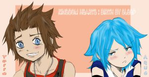 .:KH - BBS : Terra and Aqua:. by KickBass77