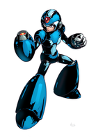 Marvel vs Capcom: Megaman X by huzba
