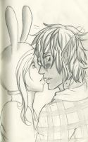 fionna and Marshall lee sketch realism? by yummy-ami-sama