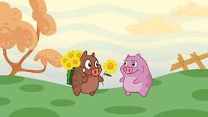 Boy Pig and Girl Pig by senimation