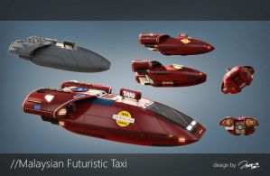 Futuristic Taxi (based on Star Trek) by JakeHays