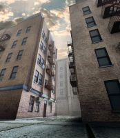 Rubble in the Bronx : Alleyway by Muze3d