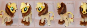 Applejack in lion costume (commission) by calusariAC