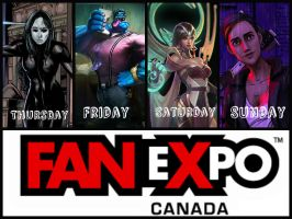 Fan Expo line up. by Kamikazemiko