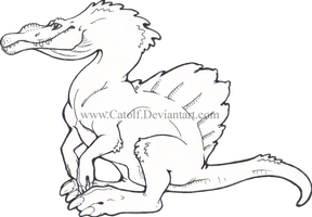 It's a baby Spinosaurus by Catolf