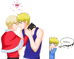 APH- I Saw Daddy Kissing Santa by KitsuneAngel