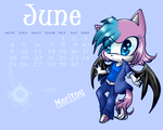 June Calendary Merlina by Maikyodel