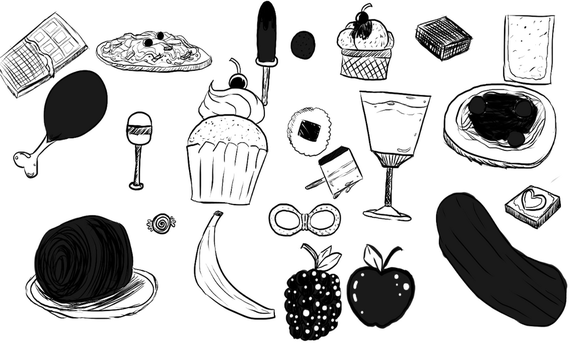 8.9.16 Food Sketches by shadowlord19