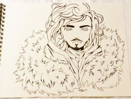 Jon Snow (Uncolored) by Bar-belo