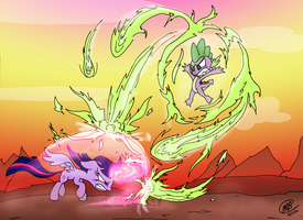Dragon Unleashed by Loreto-Arts