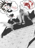 Me and Kenpachi by kitsunekage