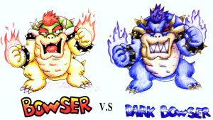 Bowser V.S Dark Bowser by JettAilchu-92