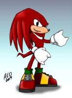 Red Echidna by MechaNeko