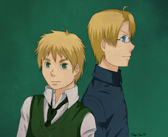APH:: Arthur and Alfred by Caliya