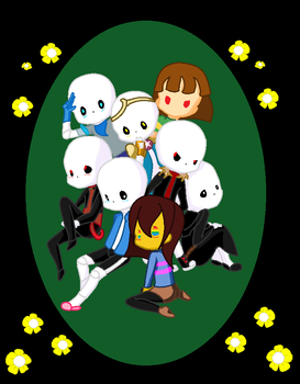 Dfrisk, Sanses, and an upset chara by Queen-of-Fate