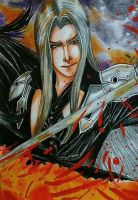 Sephiroth - Final Fantasy VII by gabi-raposa